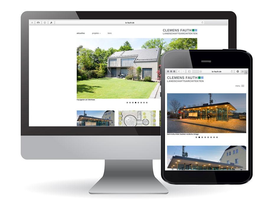 Gestaltung Website und Logo Clemens Fauth