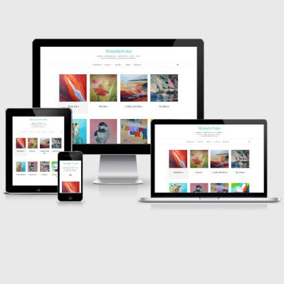 Gestaltung + Erstellung der Website Manuela Franz